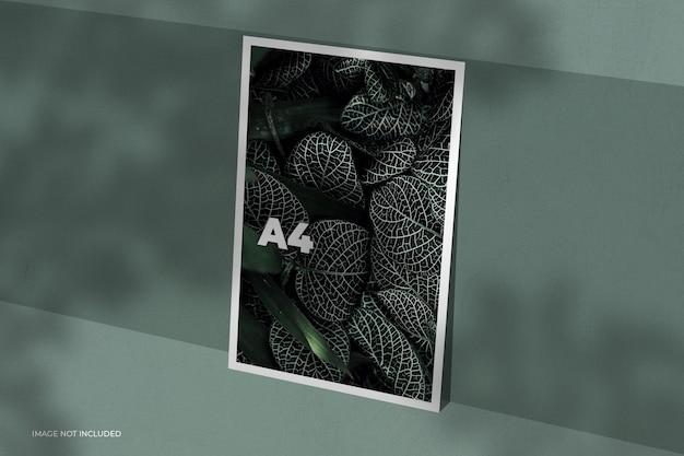 Diseño de maqueta de marco de fotos de verano