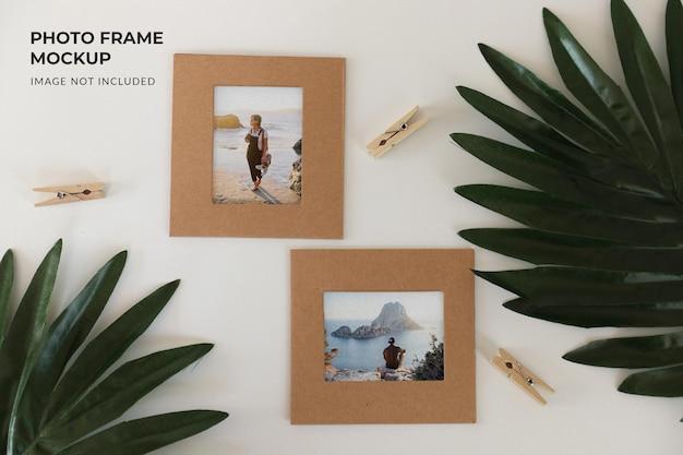 Diseño de maqueta de marco de fotos