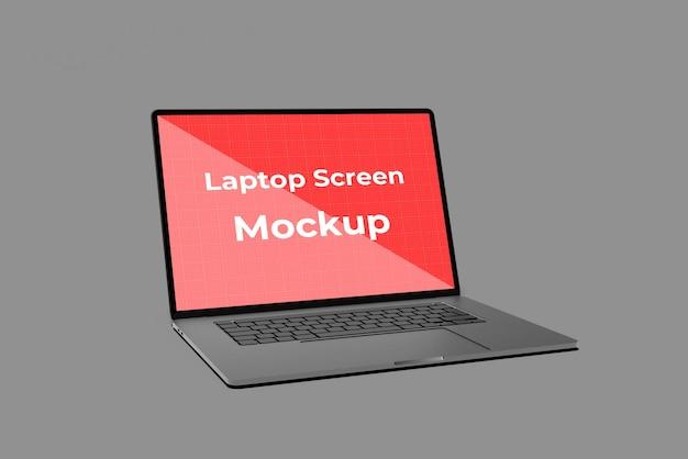 Diseño de maqueta de pantalla de portátil realista