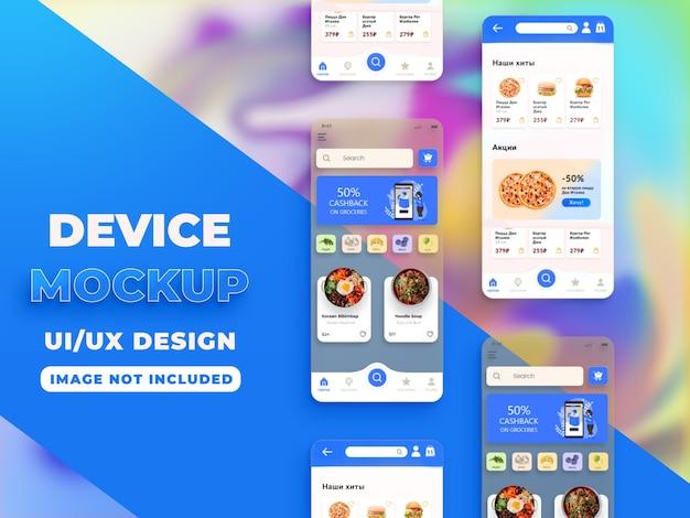 Diseño de maqueta de pantalla de teléfono inteligente realista