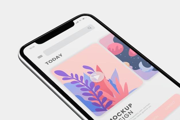 Diseño de maqueta de pantalla de teléfono móvil