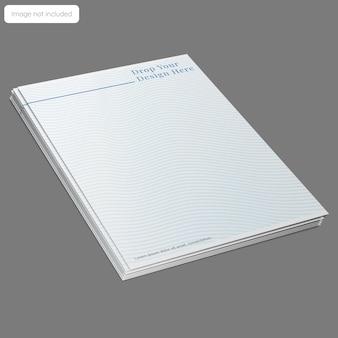 Diseño de maqueta de papel con membrete