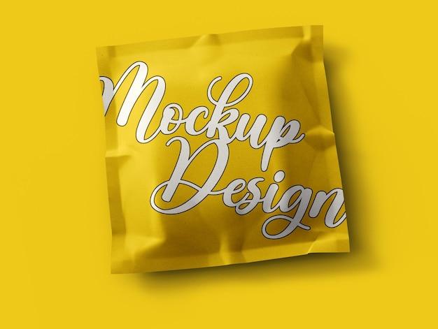 Diseño de maqueta de paquete de papel