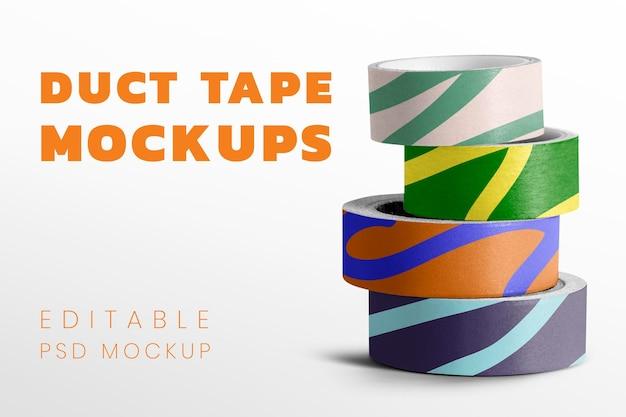 Diseño de maqueta de pila de cinta adhesiva