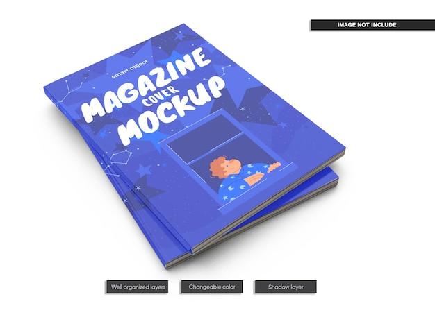 Diseño de maqueta de portada de revista aislado