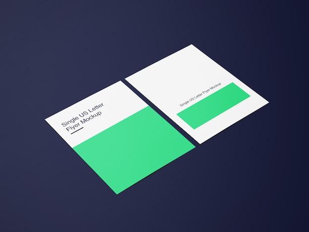 Diseño de maqueta de póster o póster de letras delante y detrás