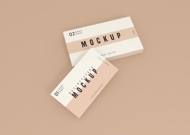Diseño de maqueta de psd de tarjeta de visita limpia