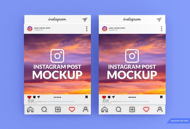 Diseño de maqueta de publicación de redes sociales de instagram