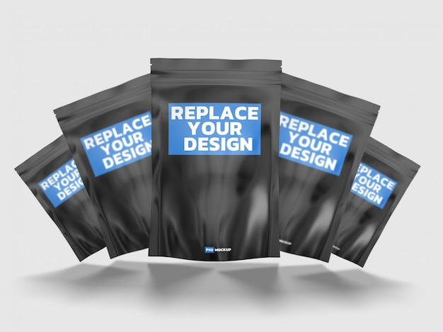Diseño de maqueta de renderizado 3d de bolsa