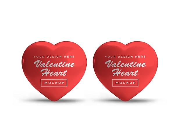 Diseño de maqueta de símbolo de corazón de san valentín