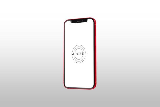 Diseño de maqueta de smartphone aislado