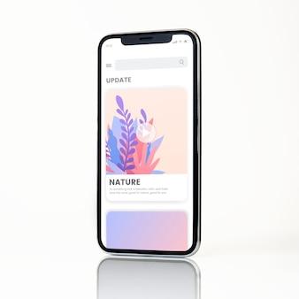 Diseño de maqueta de smartphone de pantalla completa