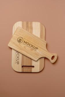Diseño de maqueta de tabla de cortar de madera