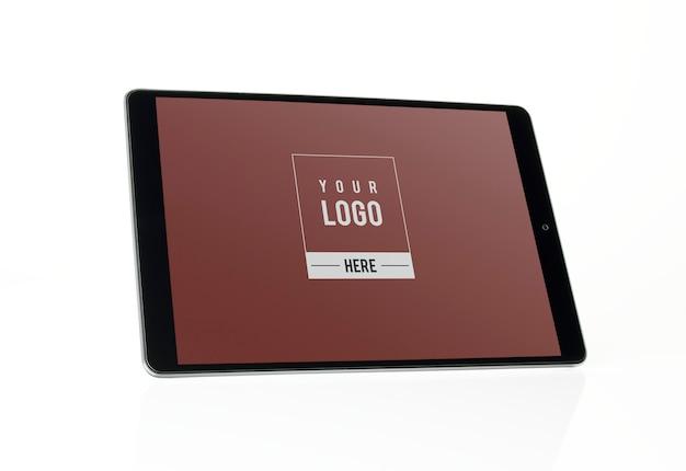 Diseño de maqueta de tableta de pantalla completa