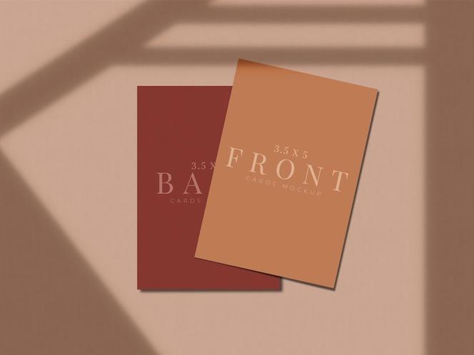 Diseño de maqueta de tarjeta de presentación moderna para presentación de marca, identidad corporativa, personal con superposición de sombras