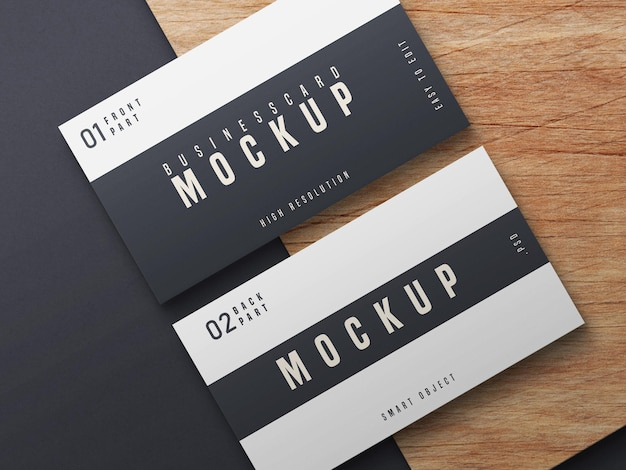 Diseño de maqueta de tarjeta de visita en blanco y negro