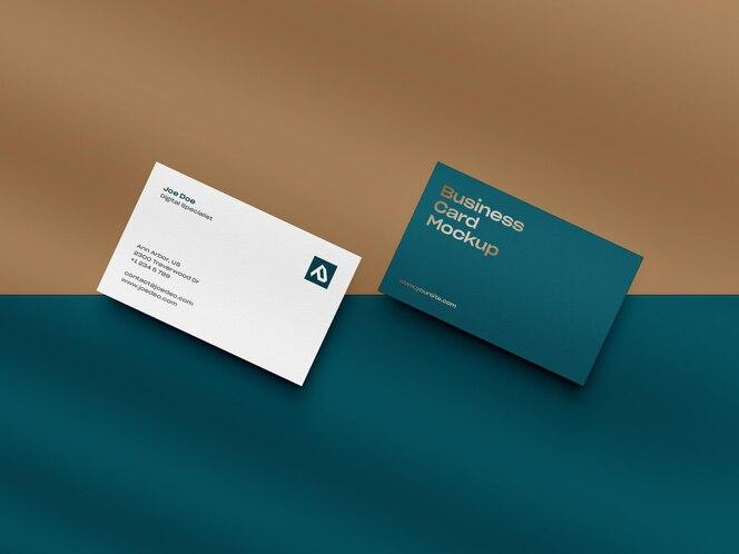 Diseño de maqueta de tarjeta de visita de cerca