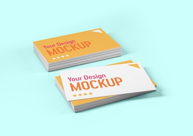 Diseño de maqueta de tarjeta de visita de dos pilas