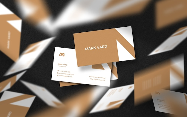 Diseño de maqueta de tarjeta de visita flotante