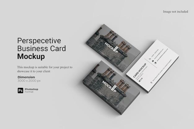Diseño de maqueta de tarjeta de visita en perspectiva