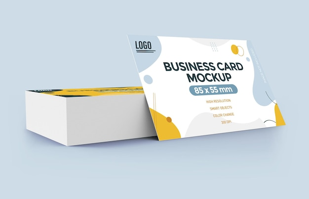 Diseño de maqueta de tarjeta de visita plana aislado
