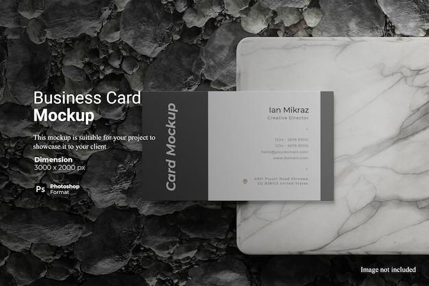 Diseño de maqueta de tarjeta de visita realista