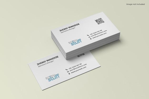 Diseño de maqueta de tarjeta de visita en renderizado 3d