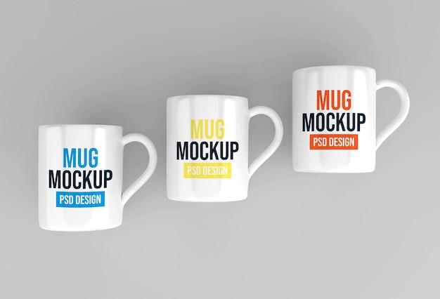 Diseño de maqueta de taza de café o té de vidrio