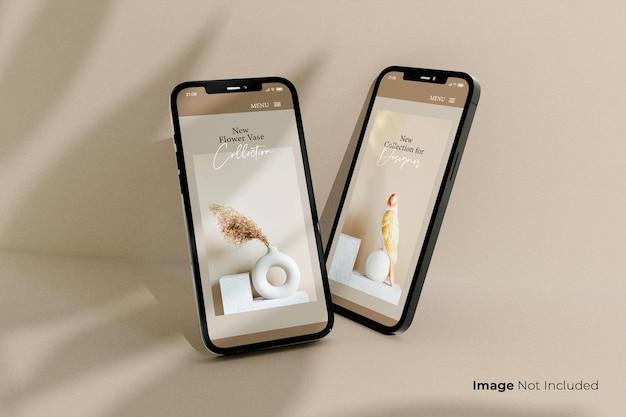 Diseño de maqueta de teléfono inteligente negro de pantalla completa