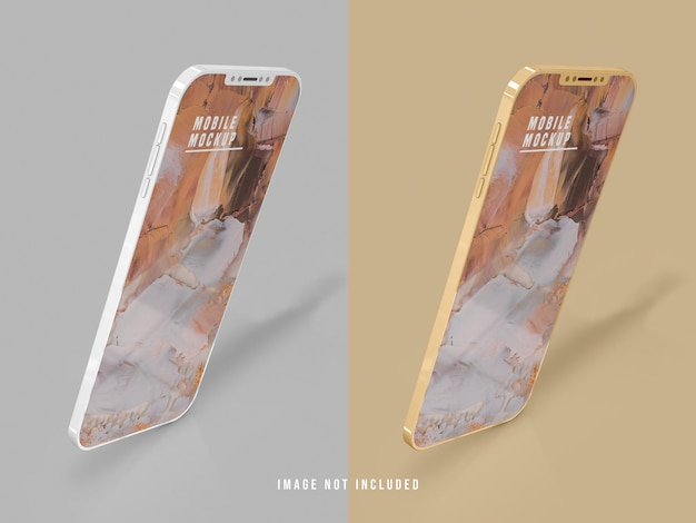 Diseño de maqueta de teléfono móvil psd