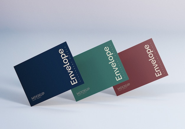 Diseño de maqueta de tres sobres