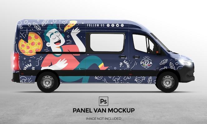 Diseño de maqueta de van panel 3d