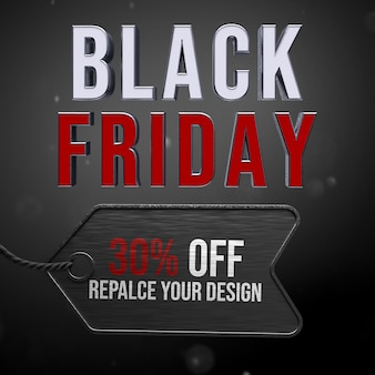 Diseño de maqueta de viernes negro