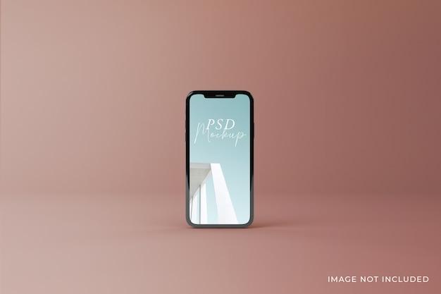 Diseño de maquetas de pantalla móvil editables de alta calidad en la vista superior