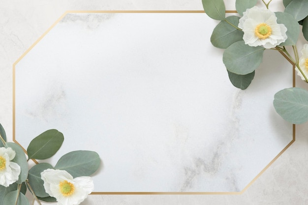 Diseño de marco dorado cherokee rose