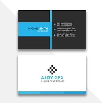 Diseño mínimo de tarjeta de presentación