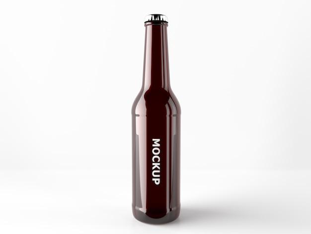 Diseño de mock up de botellín de cerveza PSD gratuito