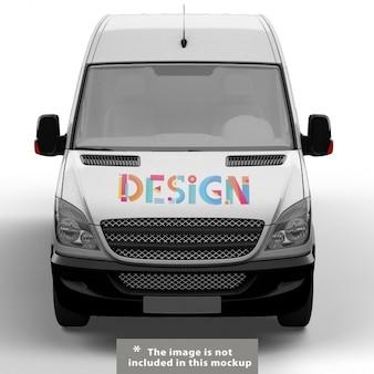 Diseño de mock up de furgoneta