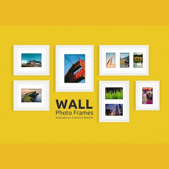Diseño de mock up de marcos de fotos