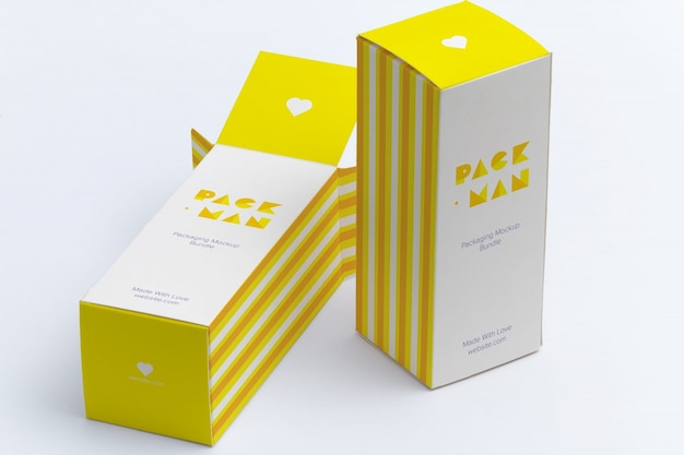 Diseño de mock up de packaging