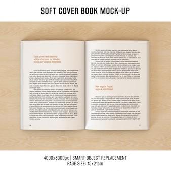 Diseño de mock up de páginas de libro