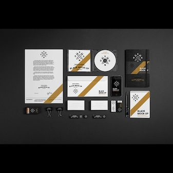Diseño de mock up de papelería corporativa