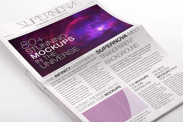 Diseño de mock up de periódico