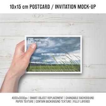 Diseño de mock up de postal
