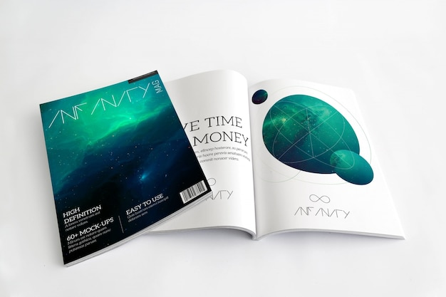 Diseño de mock up de revista