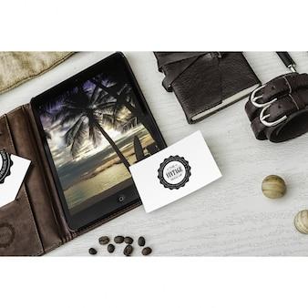 Diseño de mock up de tarjeta de visita