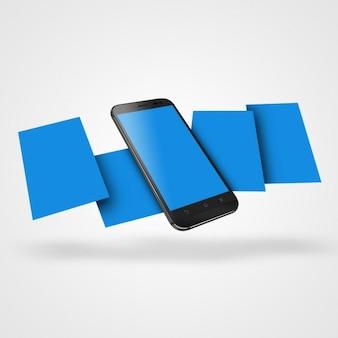 Diseño de mock up de teléfono móvil