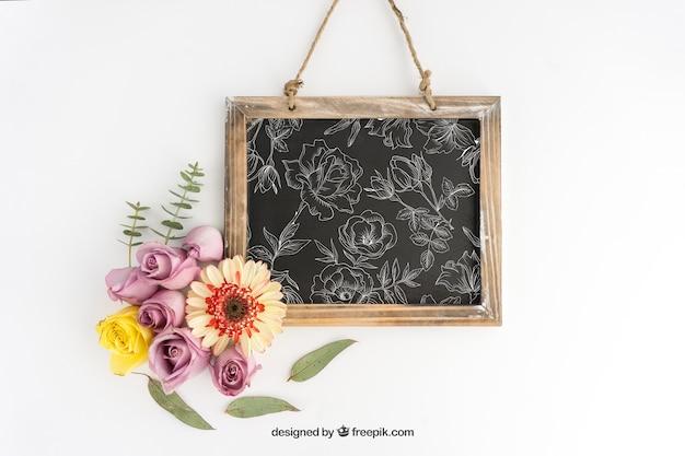Diseño de mockup de letrero