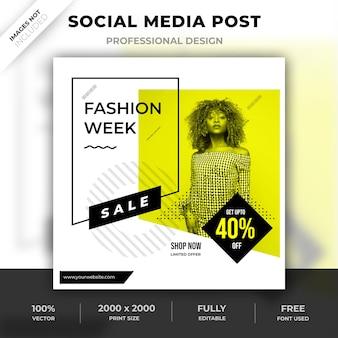 Diseño de moda en redes sociales.