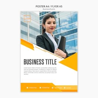 Diseño moderno de plantilla de negocios